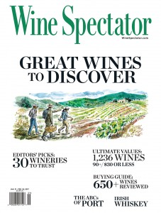 NW Wineries make Wine Spectator coverstory
